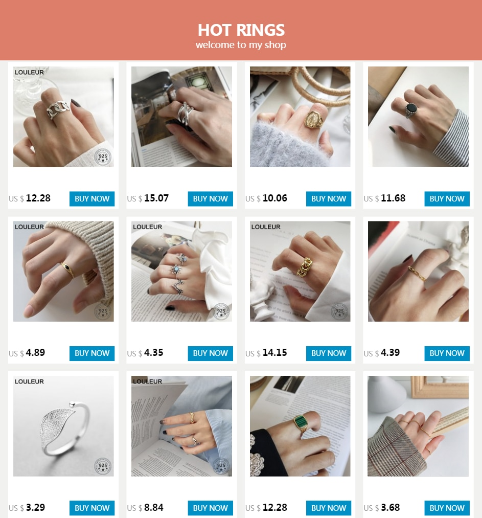 LouLeur 925 sterling silver zircon chain rings simple temperament wild chain rings for women 2018 trendy jewelry holiday gift