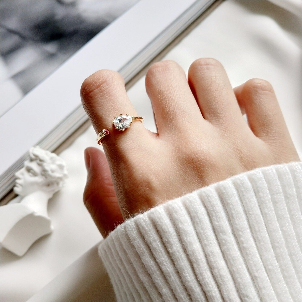 Designer zircon rings quality pure 925 sterling silver openwork rings simple fashion design wild charm women rings fine jewelry