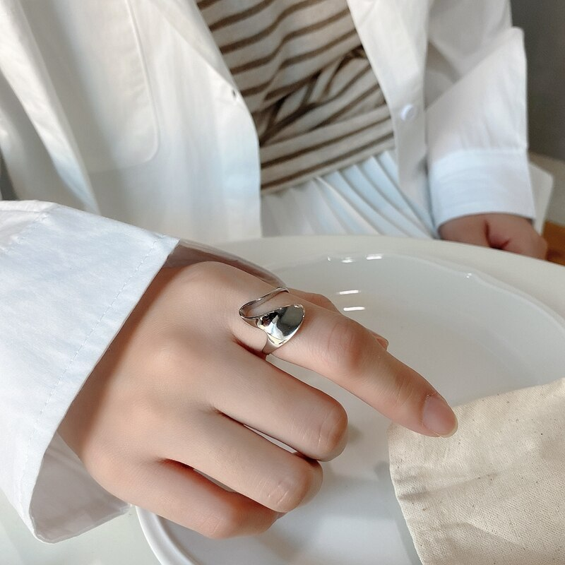 LouLeur 925 Sterling Silver Irregular Rings  Japanese Stylel Minimalist Individual Rings For Party Female Fine luxury Jewelry