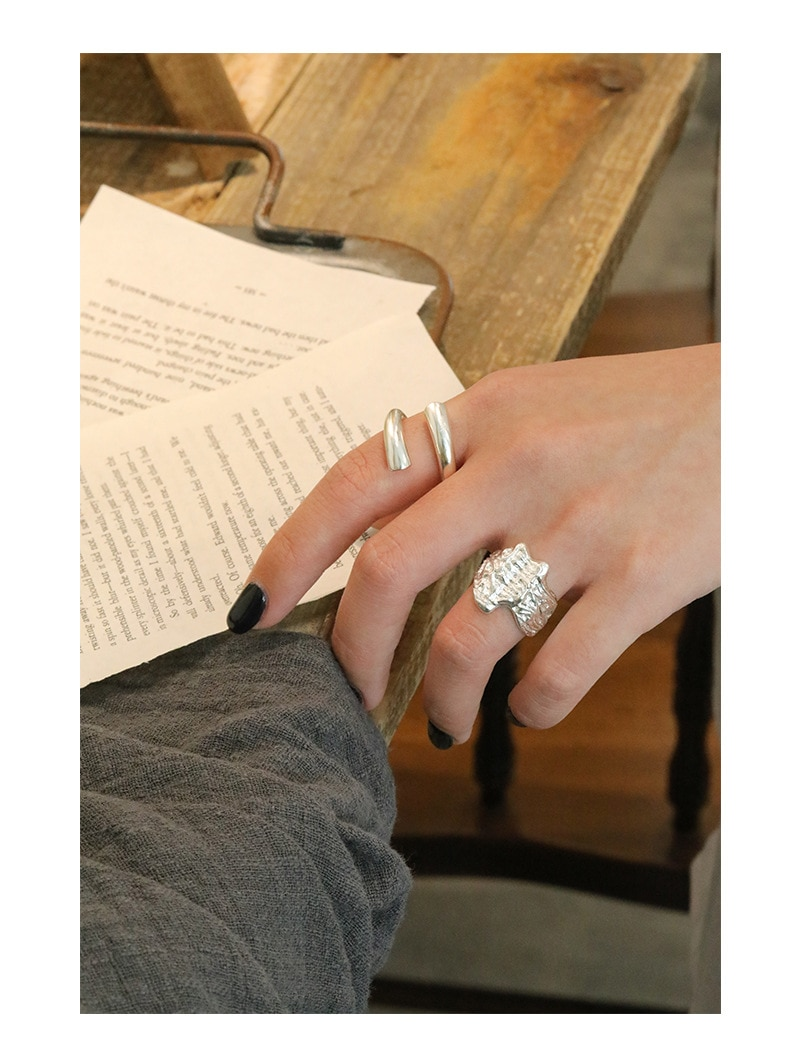 LouLeur News Design 925 Sterling Silver Ring Women Gold Silver Crossover Ring Adjustable For Women Silver 925 Fine Jewelry Gifts
