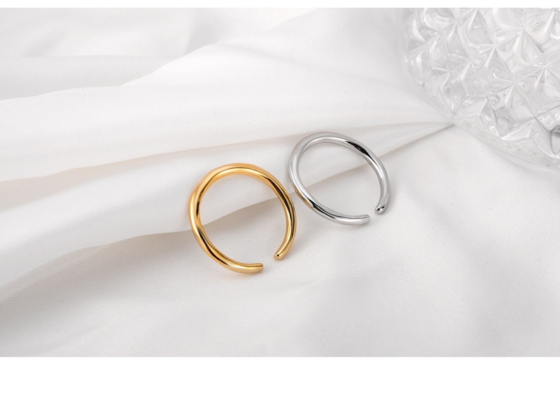 Personality Simple Design Minimalist S925 Silver Ring Simple Multi Layer Open Adjustable Rings for Women Knuckle Jewelry Korean