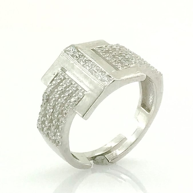 Pointing Finger Ring Trend Silver Ring