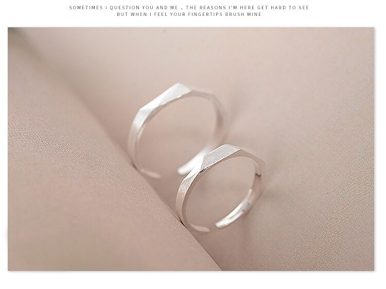 Sterling Silver 925 Rings For Lover Sterling Silver Open Ring Jewelry For Valentine's Day Gift anillo de plata anello