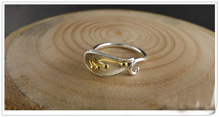 Free Shipping 925 Sterling Silver Flower Silver Jewelry Ring Women Gift Finger Rings