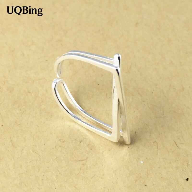 Free Shipping 925 Sterling Silver Rings 925 Geometric Open Rings Jewelry anillo de plata anello