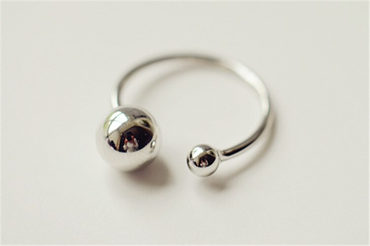 Silver Open Ring 925 Silver Small Beads Ring For Women Jewelry Finger Ring For Party Birthday Gift
