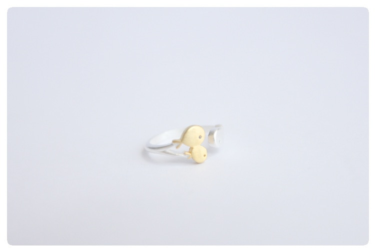 Free Shipping 925 Sterling Silver Fish Ring Women Gift Finger Rings