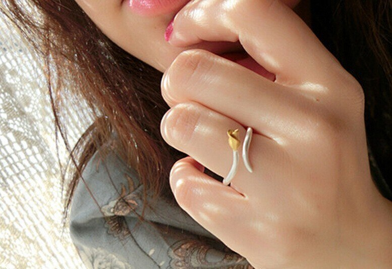 Fres Shipping 925 Sterling Silver Rings Flower Finger Rings For Women Jewelry