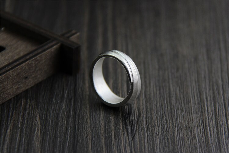 C&R Real S999 Sterling Silver Rings for Women Men Couple Rings Simple Thai Silver Rings Opening Handmade Lover's Fine Jewelry