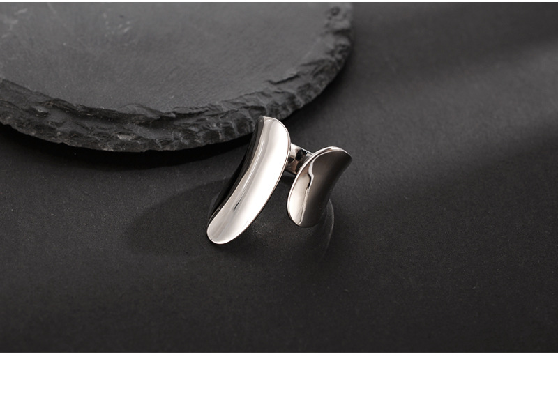 Heavy Industry 100% Authentic 925 sterling silver Golden /WHITE Irregular Geometric Band Wider Rings Punk Gothic Adjust TLJ1279