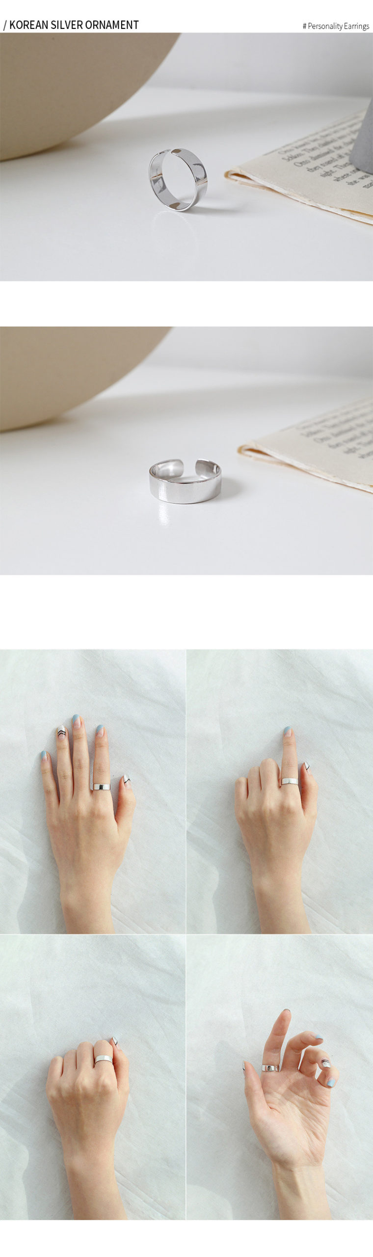 6MM 100% real. 925 SILVER Fine jewelry sterling Polished Wider Ring Women's high quality J14