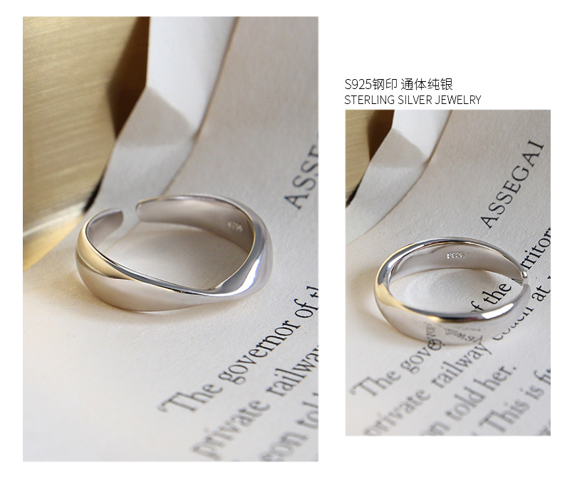minimalism 1pc Authentic 925 Sterling silver Geometric Mobius Twisted Ring Charm Fine jEWELRY r J9