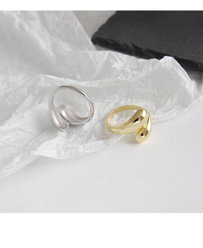 Kinel Fashion Ring Silver Sterling 925 Real Woman Jewelry Open Sterling Silver Korean Rings Fine bijoux