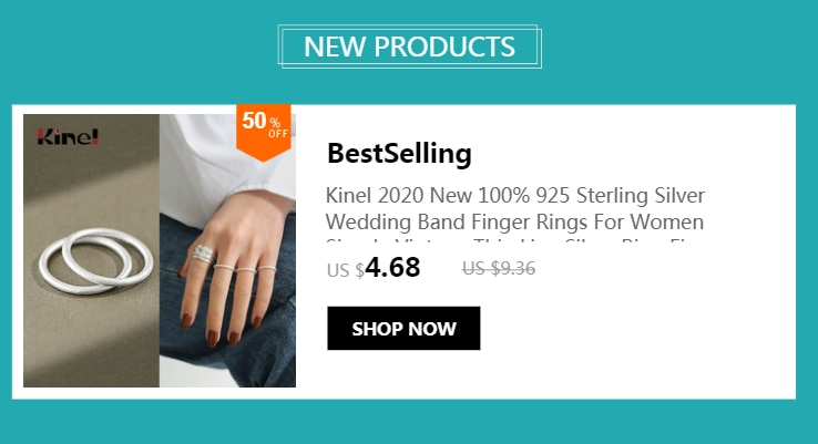 Kinel 925 Sterling Silver Ring INS Minimalist Crossed Wide-Faced Water Drops Rings for Women Bijoux Femme Jewelry 2020 New