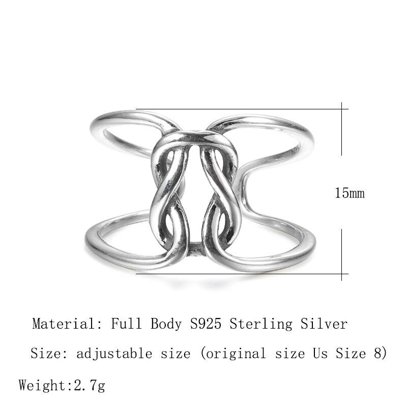 Kinel Irregular Open Rings Korea Real 925 Sterling Silver Bijoux Geometric Rings for Women Simple Luxury Jewelry 2020 New