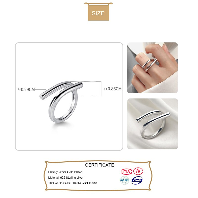 Trustdavis Real 100% 925 Sterling Silver Fashion Irregular Cocktail Opening Ring For Women Wedding Party S925 Jewelry DA1166