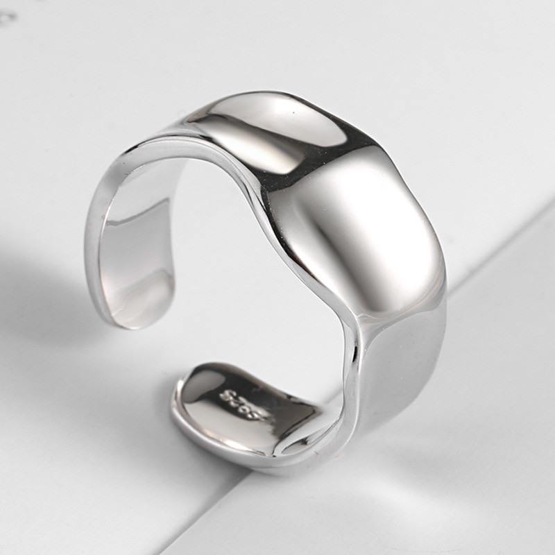 Irregular 925 Sterling Silver Rings Anillos Plata Para Bijoux Argent Massif Pour Femme Accessories Women Fine Jewelry