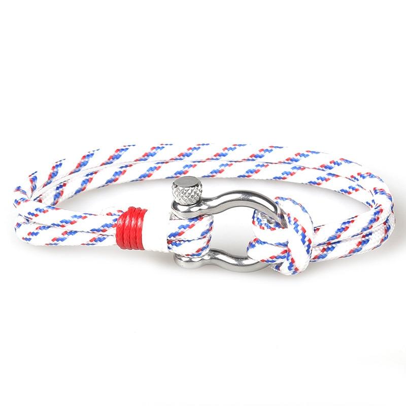 Hot Soldier Style Sport Camping Parachute cord Survival Bracelet Men Fashion Stainless Steel Buckle Bracelet Ladies Pulseira