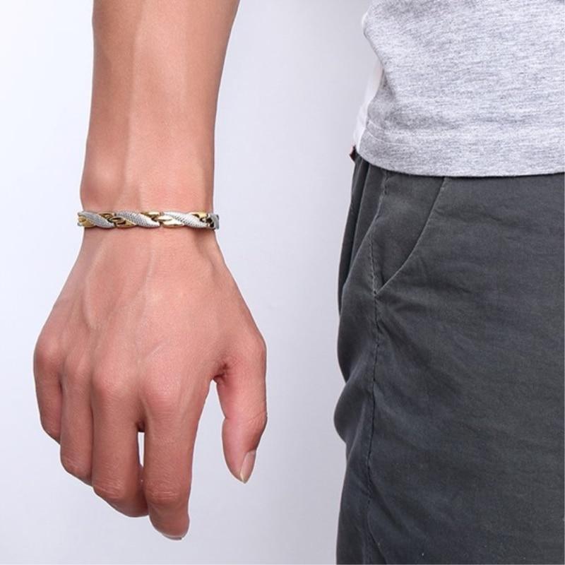Unique Punk Men Bracelets Stainless Steel Charm Bracelets For Women Men Drop Shipping Jewelry Preferred Gift Pulseira Masculina