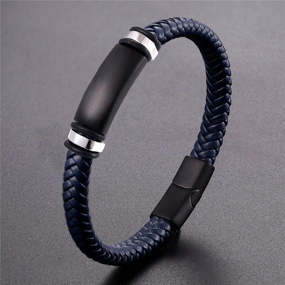 New Design Fashion Stainless Steel Bracelet Men Health Bracelet Magnetic Buckle Therapy Bangles Women Health Care Preferred Gift