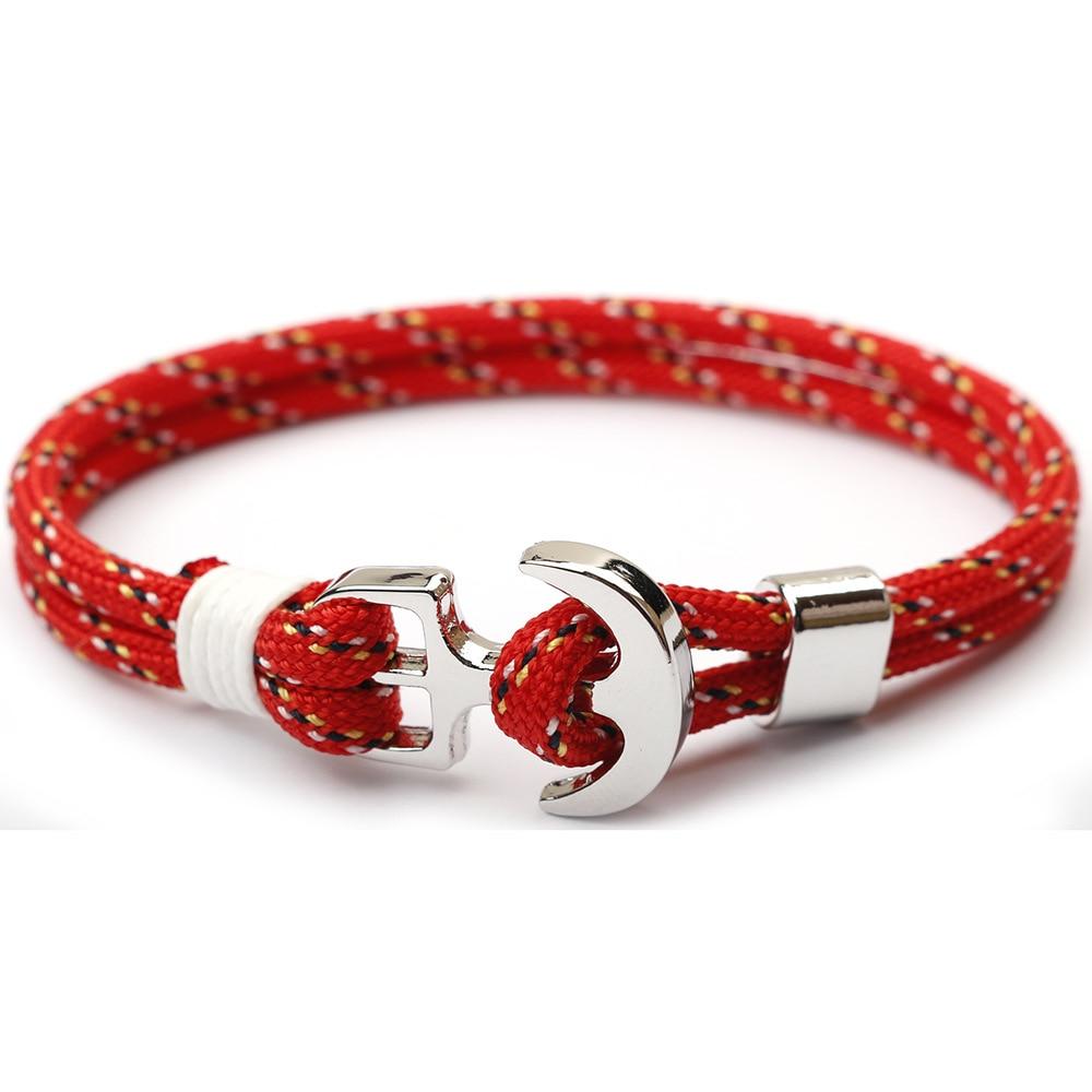 2019 New Fashion Anchor Bracelet Men Handmade Survival Bracelet Male Bracelets Women Friend Gift Party Jewelry Pulseira Senhora