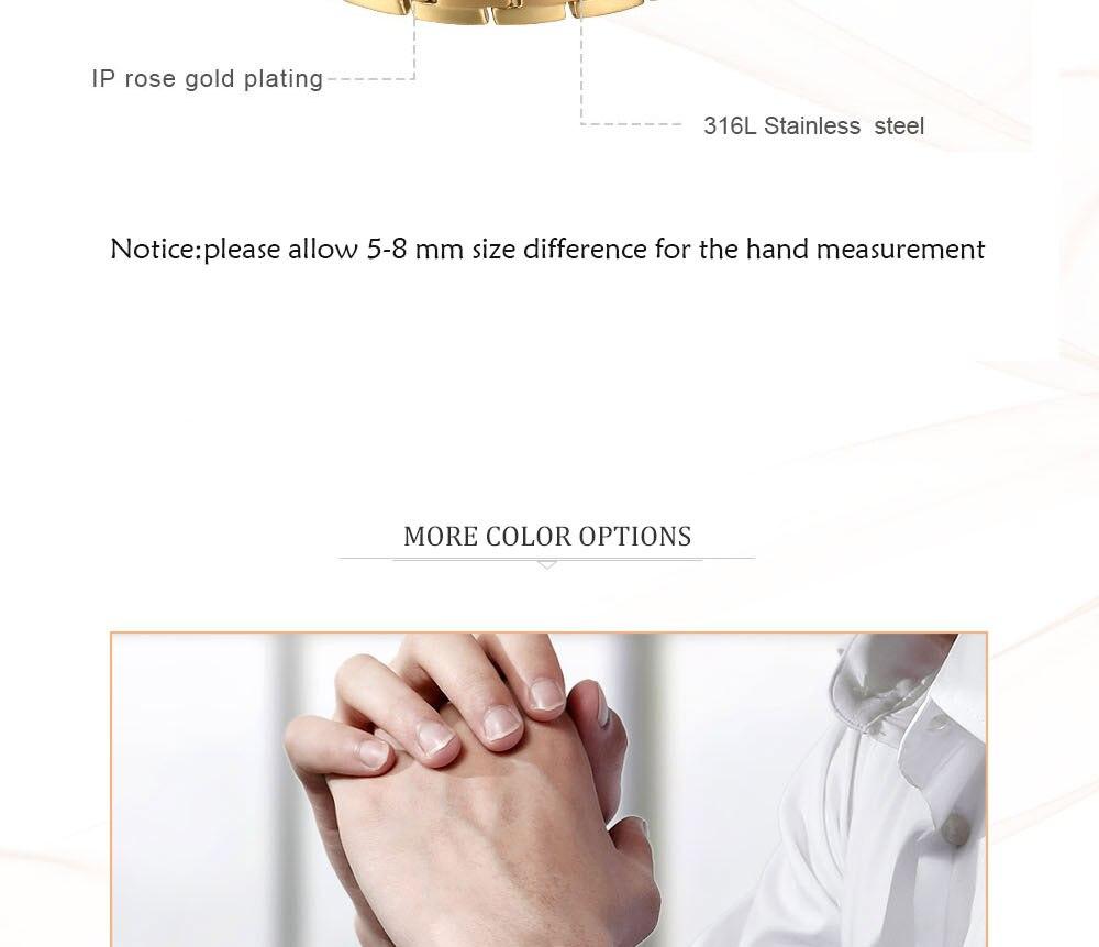 Moocare Magnetic germanium Bracelet Titanium rose Gold power health hand chain Men Stress Relief Jewelry Bracelet