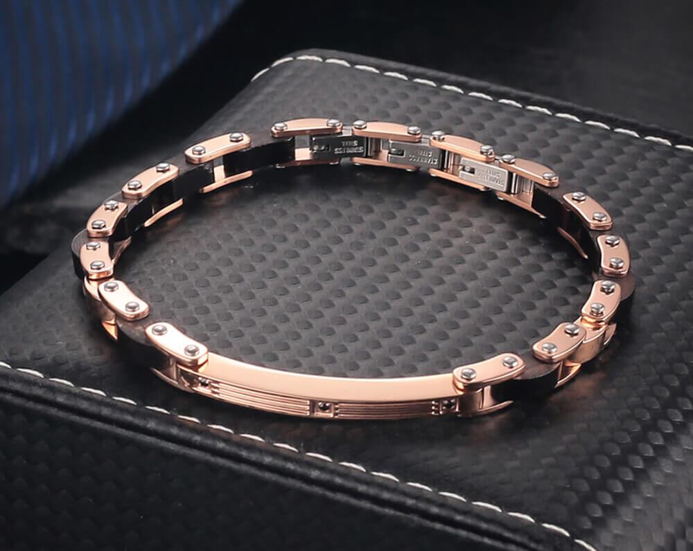 Moocare men women wood bracelet stainless steel bangle bracelet male female wrist hand chain for casual party