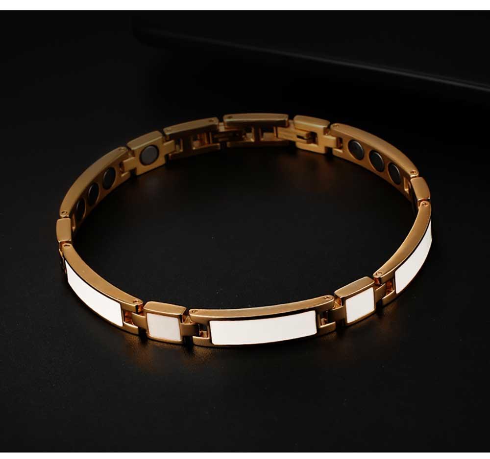 Moocare men glow in the dark luminous bracelet night light charm tennis magnetic bracelets health women lovers hand chain