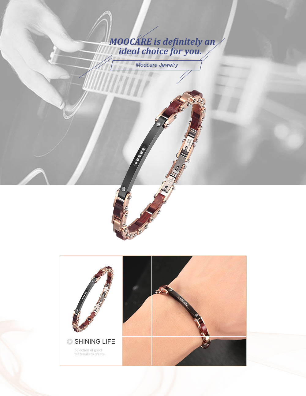 Moocare women men bracelets rose gold stainless steel wool charm chain wristband male female bangles bracelet drop shopping