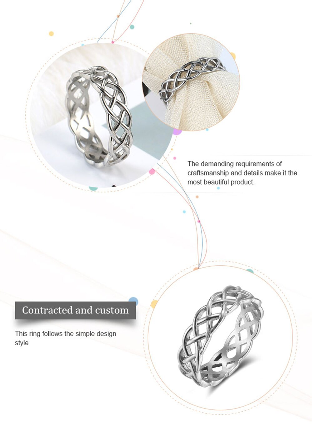 Moocare wedding band men women  ring fashion casual thin O hollow out stainless steel rings for ladies girls