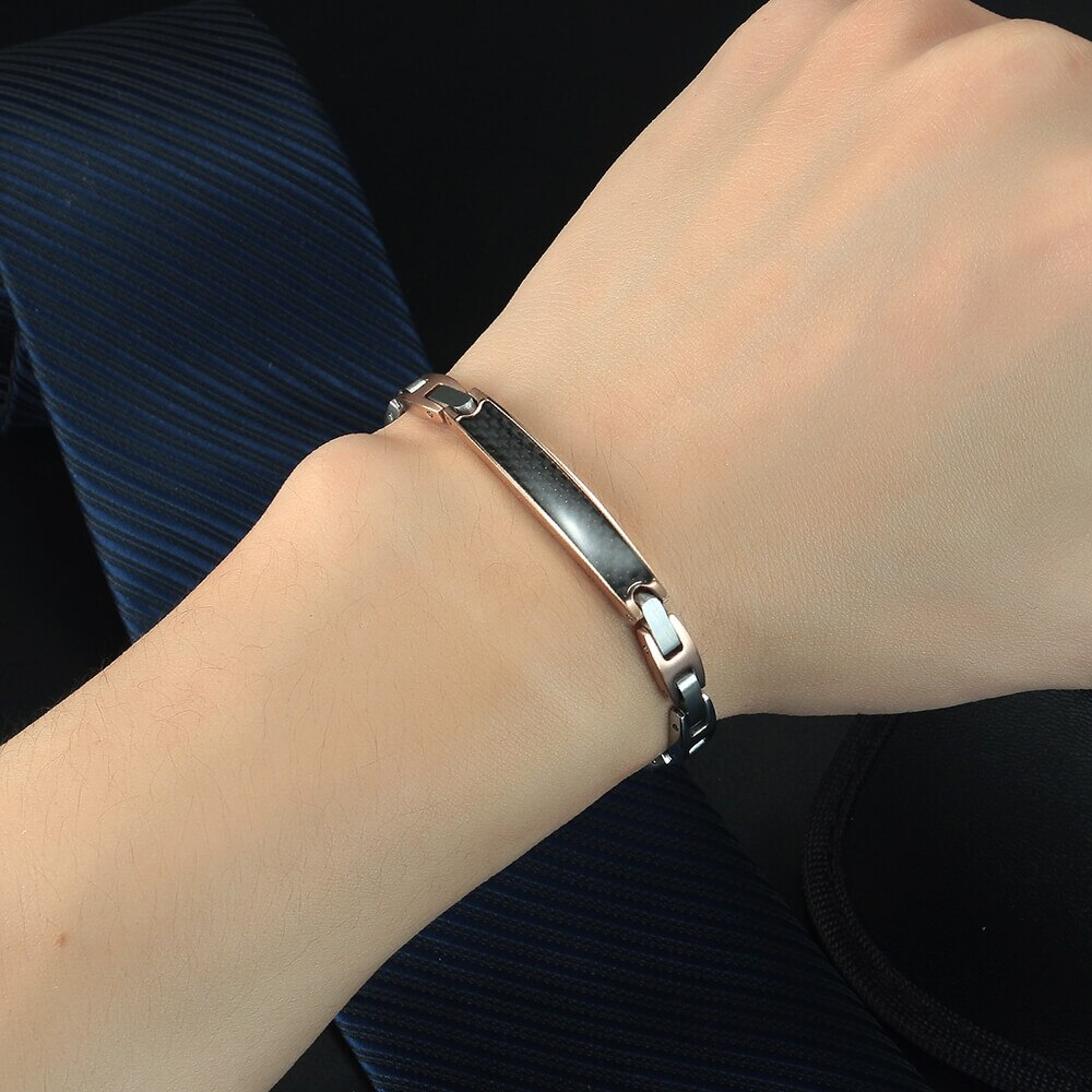 Moocare charm bracelet cuff  stainless for men and women trendy wrist hand chain for ladies fashion