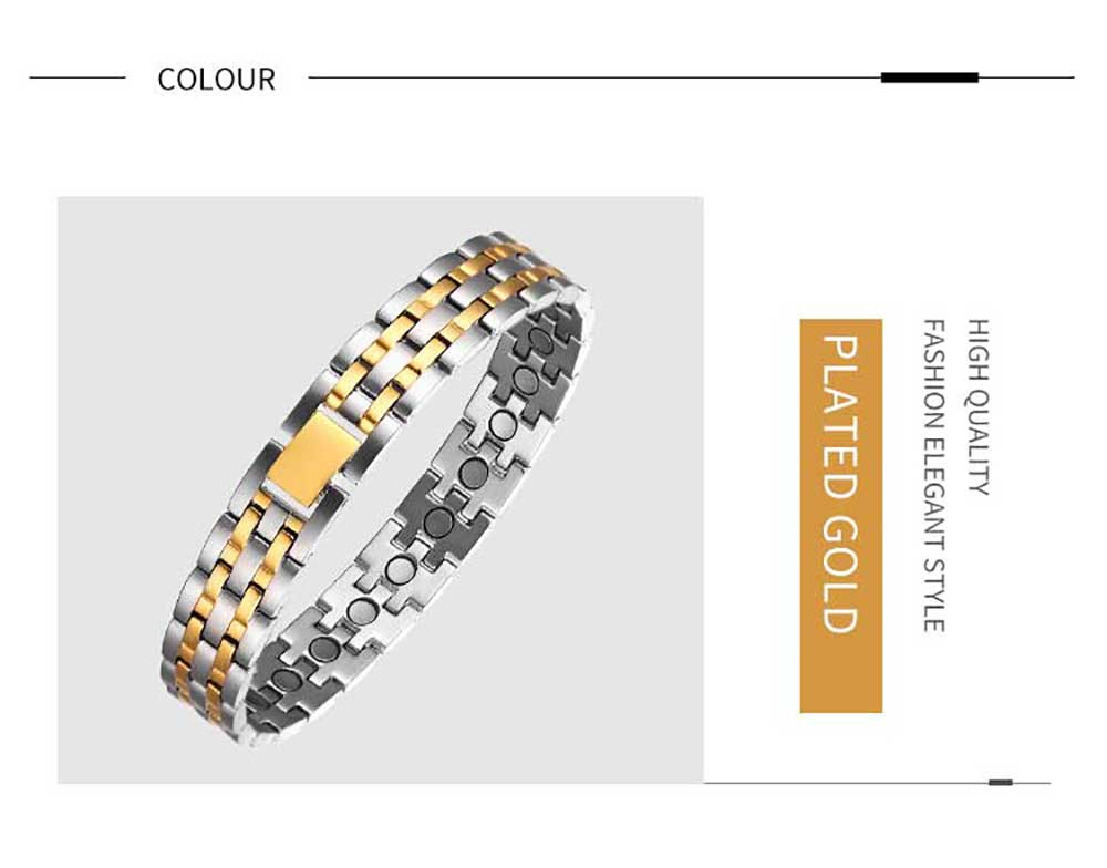 Moocare magnetic bracelet women health titanium plated gold hand charm chain jewelry accessories