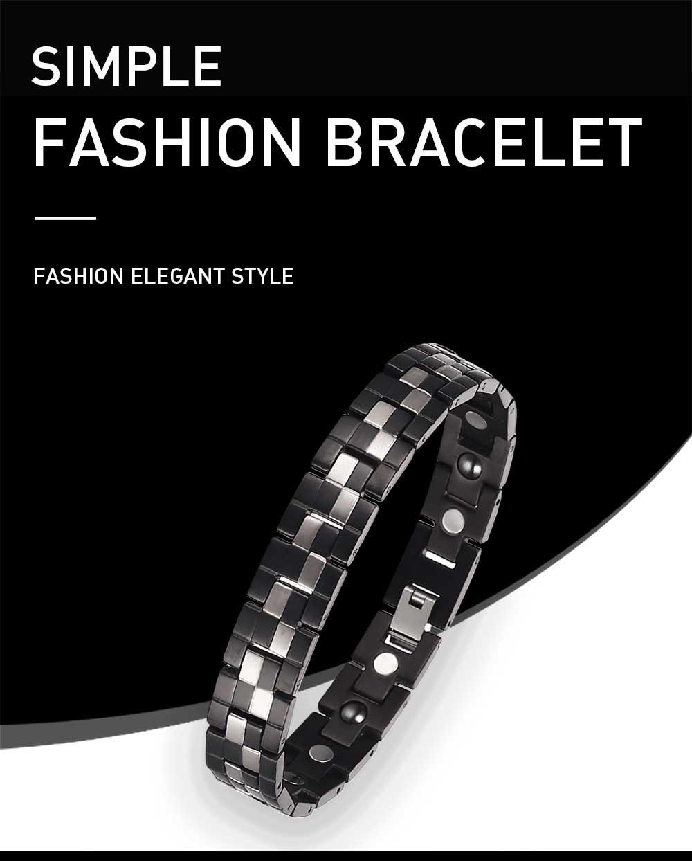 Moocare fashion men's magnet energy bracelet health magnetic therapy health jewelry pure titanium bracelet