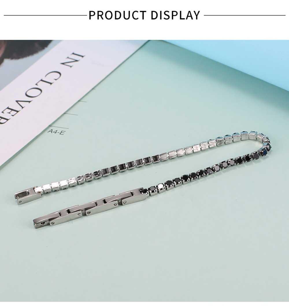 Moocare black crystal women bracelet 316 L stainless steel  female hand wrist chain jewelry accessories