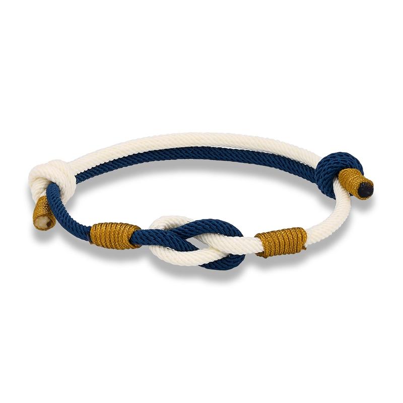 2 pcs/Set Handmade Rope Lucky Bracelets Men Women Blue Red Braided Knots Infinity Bracelet Tibetan Bangles Ethnic Couple Jewelry