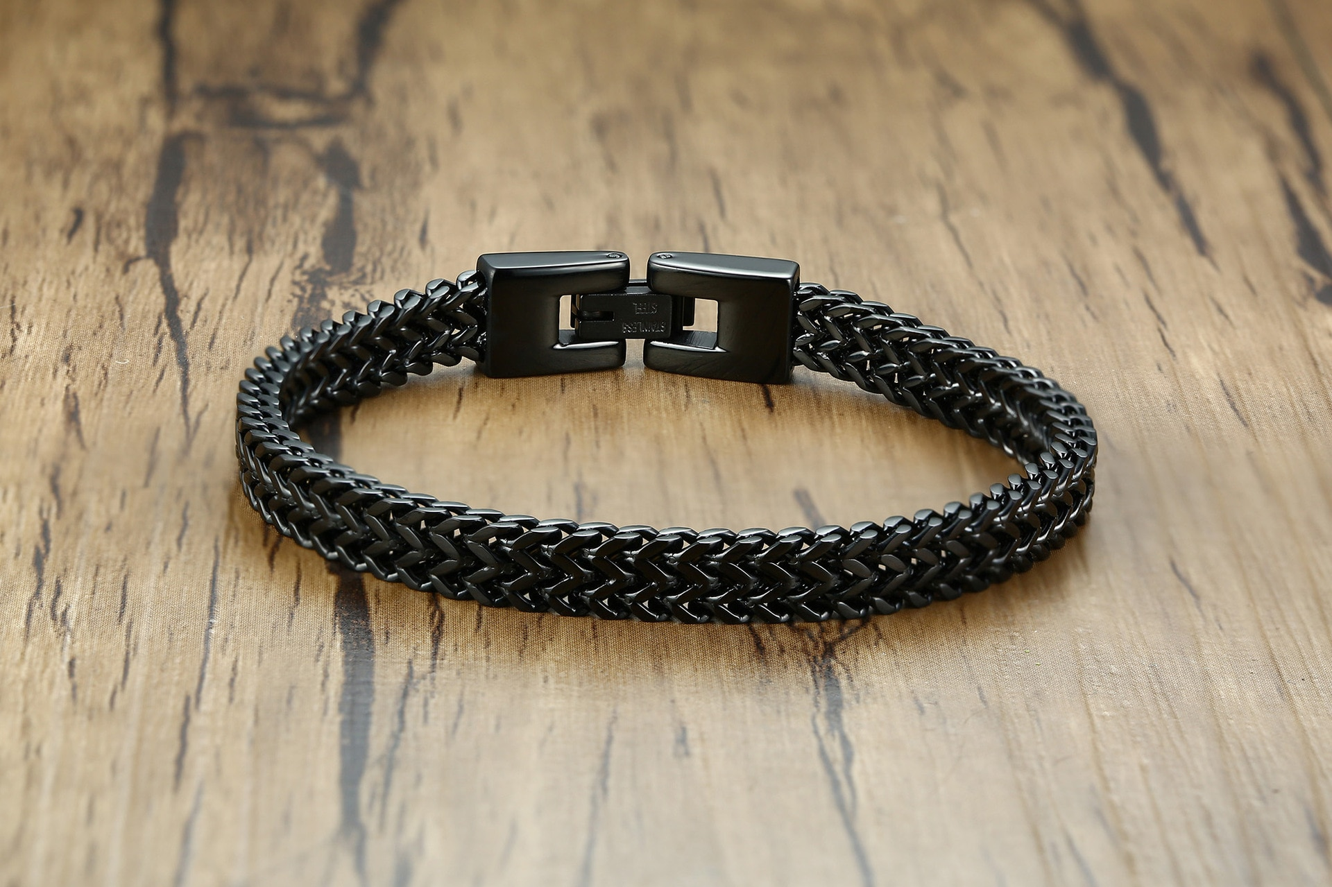 2020Hip Hop Accessories Men's Chakra Charm Stainless Steel Keel Chain Bracelet Steel Male Style European Style Asian Accessories