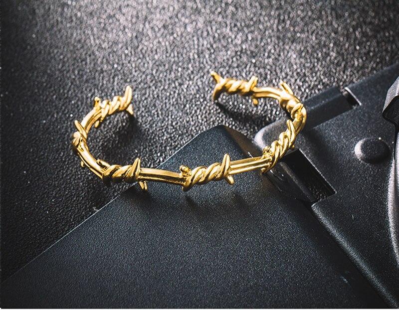 High Quality Men Jewelry Bracelet Bangle bramble Stainless Steel twine Bangle Bracelet Men