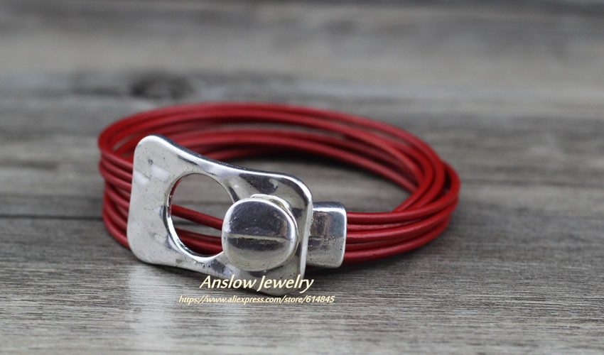 Anslow Hot Brand Top Quality Fashion Jewelry Vintage Retro Silver Plated His And Her Unisex Fathers' Day Gift Bangles  LOW0667LB