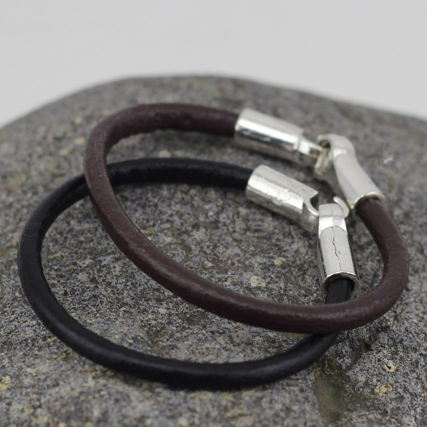 LOW0015LB Fashion Jewelry 3 Colors Real Leather  Bracelet  Bangles for Women Or Girls Fashion Man Braclets Unisex Jewelry
