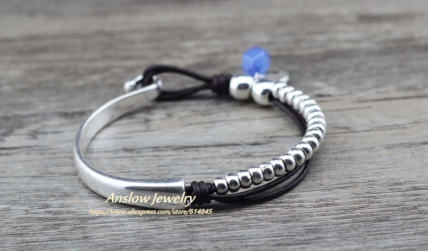 Anslow New Design Charms Fashion Jewelry Bracelet&Bangles For Men Male Handmade Antique Beads Bracelet Gift LOW0790LB