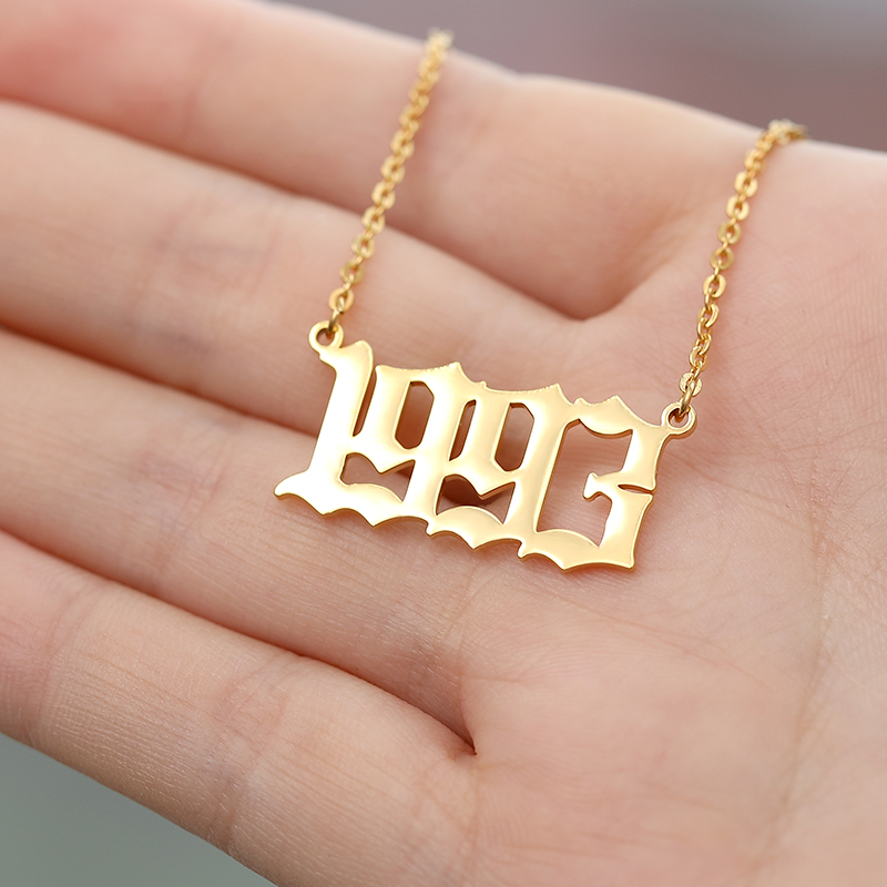 Stainless Steel Birth Year Necklace