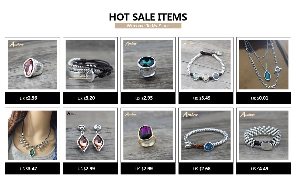 Anslow Hot Brand Fashion Jewelry New Punk Rock Style Exaggerated Party Punk Rock Leather Bracelet For Women Men Gift LOW0684LB