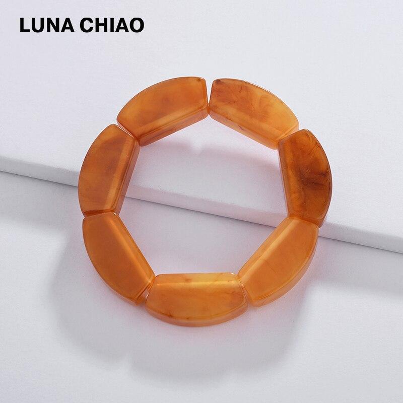 LUNA CHIAO Fashion Jewelry Big Chunky Resin Acrylic Women Bangle&Bracelets