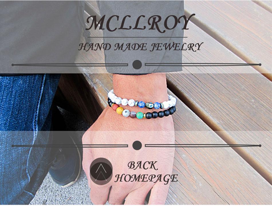 Mcllroy Cuff Bracelets For Women Men Vintage Geometric Luxury Gold Bracelets & Bangles Stainless Steel Jewelry Pulseras Hombre