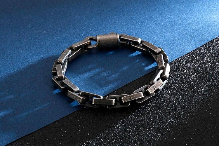 Hiphop 8MM Chain Bracelet Men Metal Solid 316L Stainless Steel Mens Friendship Bracelets Link 2020 Male Jewellery Accessories