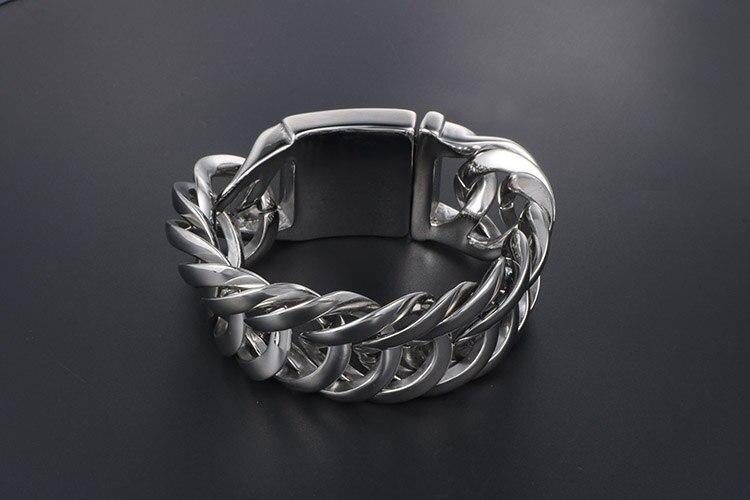 Rocker Massive Heavy Metal Biker Jewelry Mens Stainless Steel Chain Bracelets For Men Friendship Bracelets & Bangles For Husband