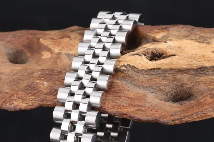 TrustyLan Newest Cool Men Bracelet Stainless Steel Mens Bracelets Fashion Classic Biker Jewelry For Male Brazalets Wristband