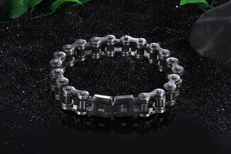 Punk Rocker Motorcycle Bicycle Chain Man Bracelet Heavy Stainless Steel Jewelry Accessory Biker Mens Bracelets For Men Wristband