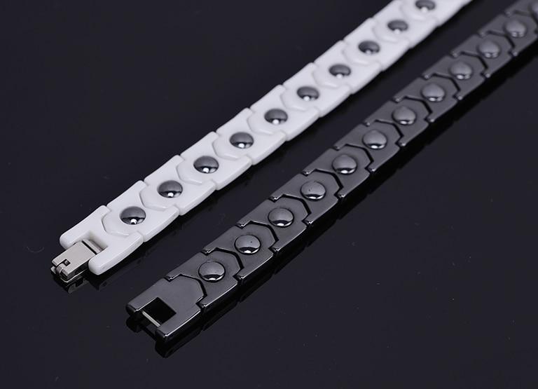 Ceramic Men Bracelet Female Mens Bracelets For Women Accessories Health Magnetic Germanium Therapy Health Energy Couple Bracelet