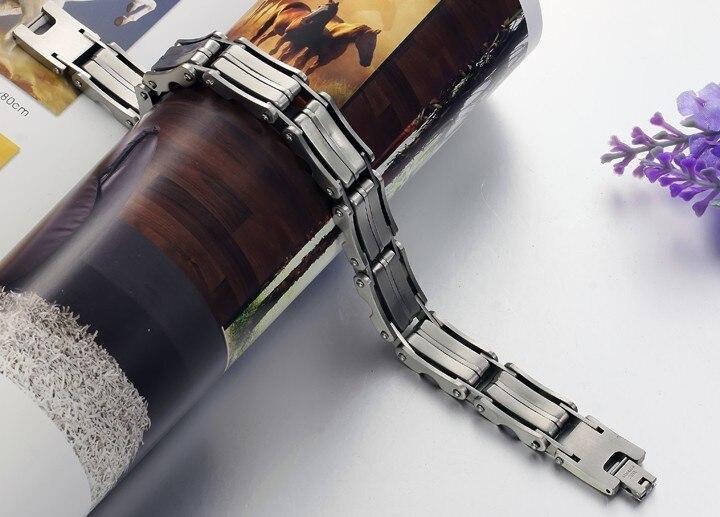 TrustyLan Classic Mens Bracelets 2018 12.5MM Wide Charm Bracelet Men Fashion Jewelry Mens Friendship Chain Bracelets Wristband